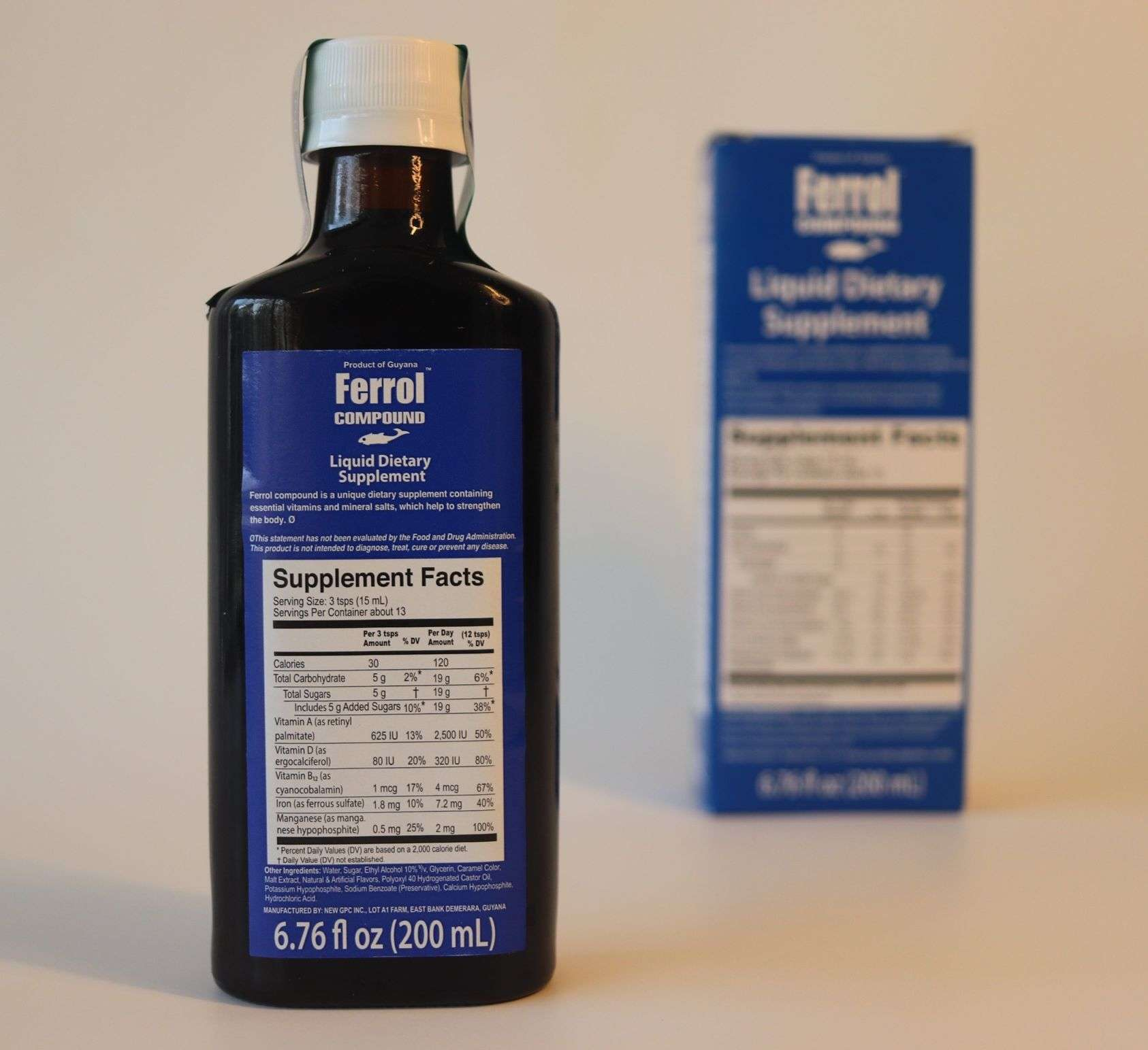 Ferrol Compound Liquid Dietary Supplement